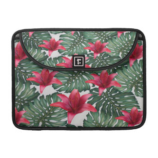 Adorable Tropical Palm Hawaiian Hibiskus Sleeve For MacBooks