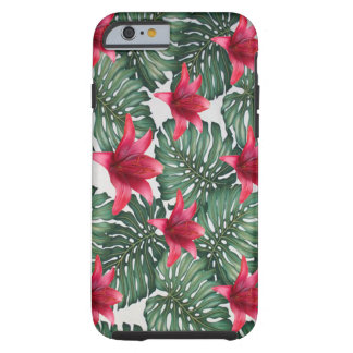 Adorable Tropical Palm Hawaiian Hibiskus Tough iPhone 6 Case