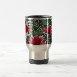 Adorable Tropical Palm Hawaiian Hibiskus Travel Mug