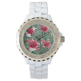 Adorable Tropical Palm Hawaiian Hibiskus Watch