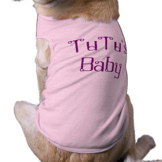 "Adorable ""TuTu's Baby"" Doggie Ribbed Tank Top Pet Tshirt"