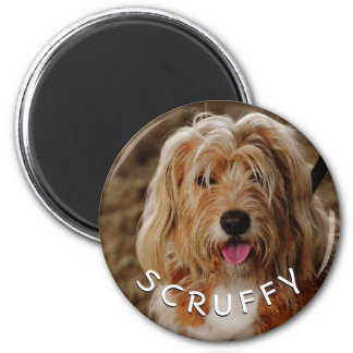 Adorable Unique Dog 2 Inch Round Magnet