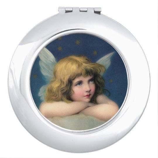 Adorable Vintage Angel Mirrors For Makeup