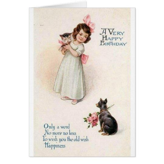 Adorable Vintage Birthday Greeting Card