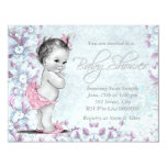 Adorable Vintage Pink and Purple Baby Shower