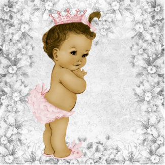 Adorable Vintage Pink Baby Girl Shower Cut Outs