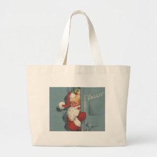 Adorable Vintage Santa Claus Large Tote Bag