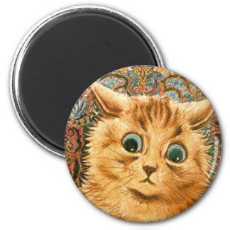 Adorable Wallpaper Cat by Louis Wain Magnet