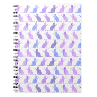 Adorable Watercolor Cat Pattern Notebooko Notebooks