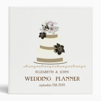Adorable Wedding Cake Personalized Bridal Planner Binder