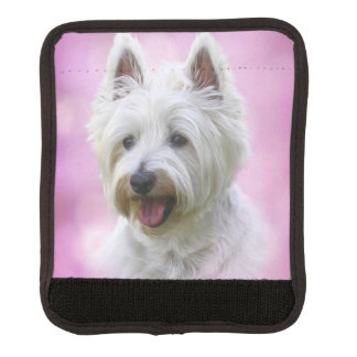 Adorable west highland white terrier handle wrap