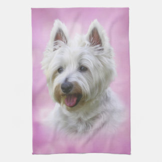 Adorable west highland white terrier kitchen towel
