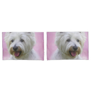 Adorable west highland white terrier pillowcase