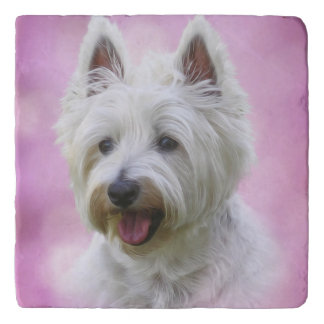 Adorable west highland white terrier trivet