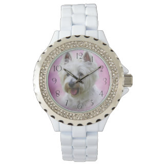 Adorable west highland white terrier wristwatches