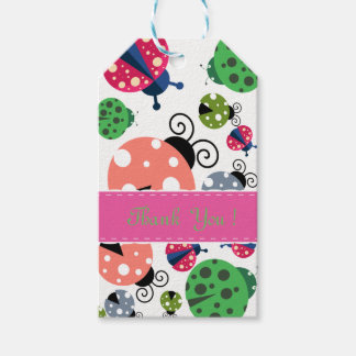 Adorable Whimsical Cute Colorful Ladybugs Pack Of Gift Tags