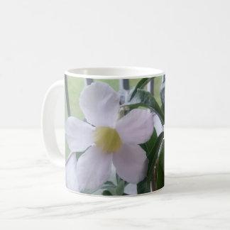 Adorable White Flower Personalized Coffee Mug