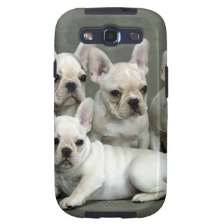 Adorable White French Bulldogs Samsung Galaxy S3 Cases