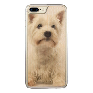 Adorable White West Highland Terrier Carved iPhone 8 Plus/7 Plus Case