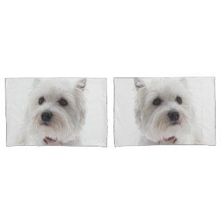 Adorable White West Highland Terrier Pillowcase