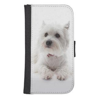 Adorable White West Highland Terrier Samsung S4 Wallet Case