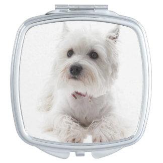 Adorable White West Highland Terrier Vanity Mirror