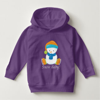 Adorable Winter Theme Snow Baby Snowman Hoodie