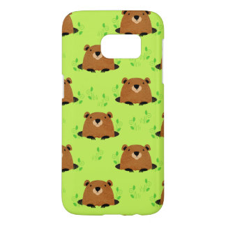 Adorable Woodland Groundhog Pattern Samsung Galaxy S7 Case