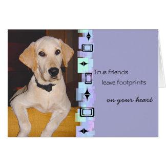 Adorable Yellow Lab Puppy Birthday Greeting Card