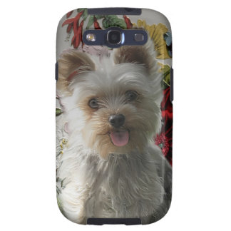Adorable Yorkie and Rose Photo Painting Gifts Samsung Galaxy SIII Case