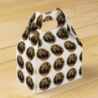 Adorable Yorkshire brown and black terrier Favor Box