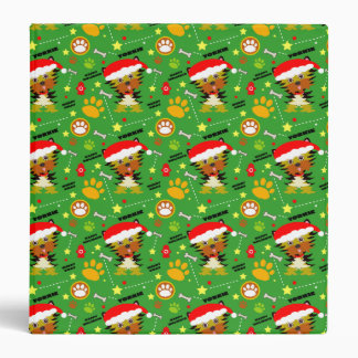 Adorable Yorkshire Terrier Christmas Vinyl Binders
