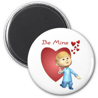 Adorable Young Man With Engagement Ring Caricature 2 Inch Round Magnet