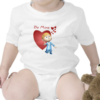 Adorable Young Man With Engagement Ring Caricature Baby Creeper