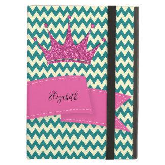 Adorable Zigzag,Chevron,Glitter Tiara-Personalize Cover For iPad Air
