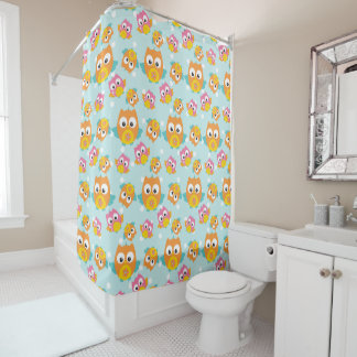 Adorably Cute Orange and Pink Owl Pattern Print