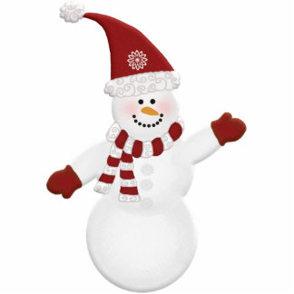 Adorably Cute Snowman Photo Sculpture Ornament