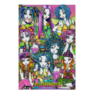 Adoralicious Rainbow Fairy Friends Poster