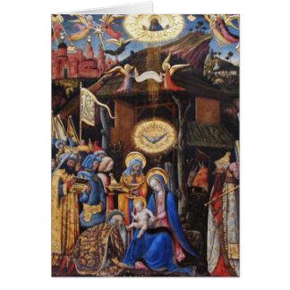 Adoration of Magi - Antonio Vivarini Greeting Card