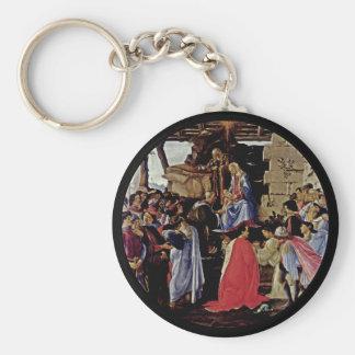 Adoration of Magi Basic Round Button Keychain