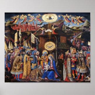 Adoration of Magi by Antonio Vivarino Poster