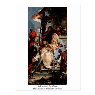 Adoration Of Magi By Giovanni Battista Tiepolo Postcard