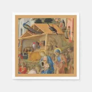 Adoration of Magi Fra Angelico Paper Napkins