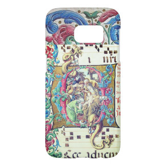 ADORATION OF MAGI , NATIVITY MONOGRAM WITH DOLPHIN SAMSUNG GALAXY S7 CASE