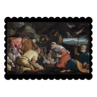 "Adoration of Shepherds 5"" X 7"" Invitation Card"