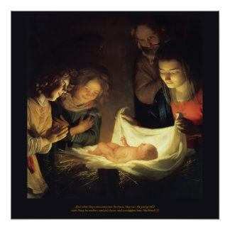 Adoration of the Child - Honthorst c1622 Poster