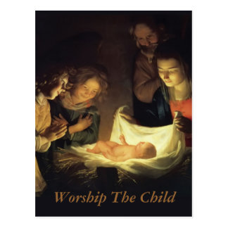 Adoration of the child postcard