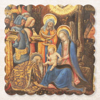 Adoration of the Kings  (Adorazione dei Magi) Paper Coaster