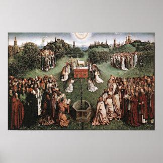 Adoration of the Lamb Jan van Eyck 1429 Poster