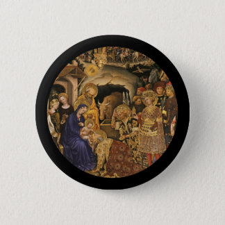 Adoration of the Magi 14th century 2 Inch Round Button
